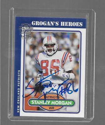 2004 Topps Archives   Stanley Morgan   Atff Grogans Heroes Autograph   Patriots