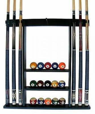 Cue Rack Only - 6 Pool - Billiard Stick + Ball Set Wall Rack