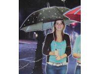 Dzine Twilight Umbrella Starlight Fibre Optic White Light Starry Night Effect