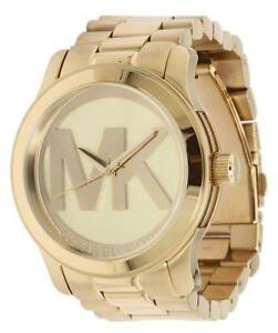 michael kors oversized watch michael kors oversized gold watch