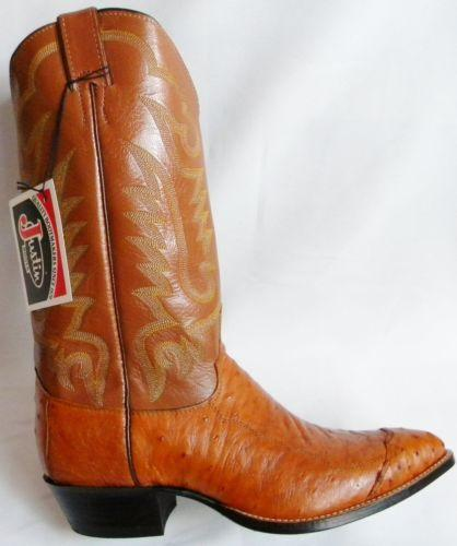Justin Smooth Ostrich Boots Ebay