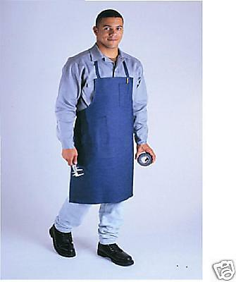 1 new denim shop bib apron machinist w/ combo pockets metalsmith shop work apron