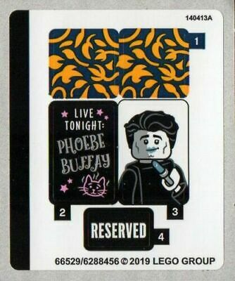 NEW LEGO Friends Central Perk 21319 STICKER SHEET ONLY Authentic