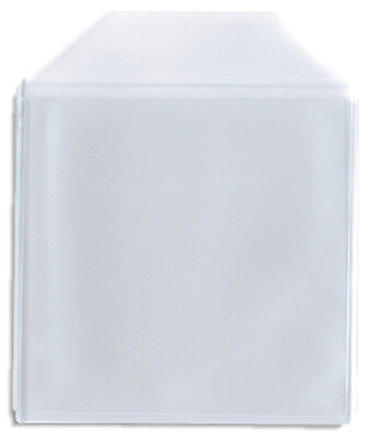 50-pak Clear Plastic Poly Cpp Cd Sleeves With Flap