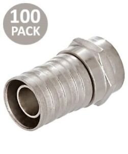 100  RG 59  F type Crimp Connector for Coaxial Cable