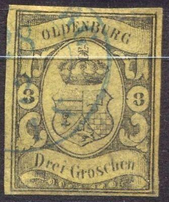 Oldenburg 8 gestempelt, geprüft Richter 750.- #e95w