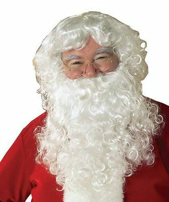 NEW Santa Claus Beard And Wig Set White One Size Christmas Costume Cosplay Wash (White Wig Costume)