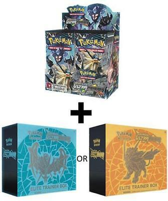 POKEMON TCG SUN & MOON ULTRA PRISM BOOSTER SEALED BOX + ELITE TRAINER BOX