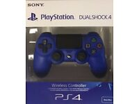 PS4 Dualshock 4 Controller Blue V2. Brand New and Sealed