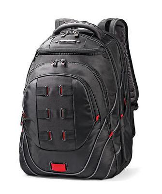 "Samsonite Tectonic PFT 17"" Backpack - Black/Red Laptop Backpack NEW #51531"