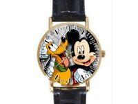 Cartoon Leather Strap Wrist Quartz Watch