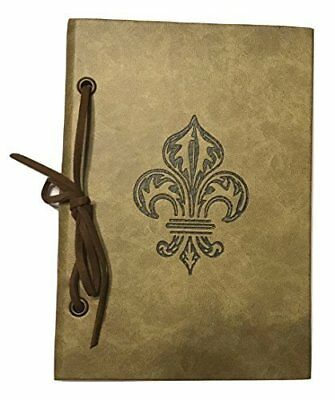 Small Fleur De Lis Brown Camel Notebook