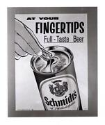 Schmidt Beer Sign