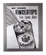 Schmidt Beer Sign