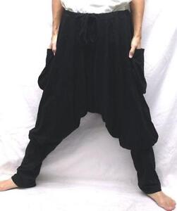 Awesome Brown Cotton Drop Crotch Track Pants From Unconditional Featuring A