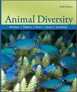 Animal Diversity 6th ed (Hickman et al.) - text book for Dal