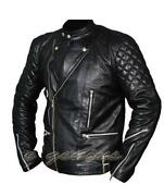 Mens Punk Leather Jacket