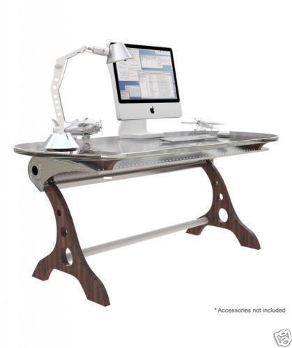 Restoration Hardware Airplane Desk: Airplane Wing Desk