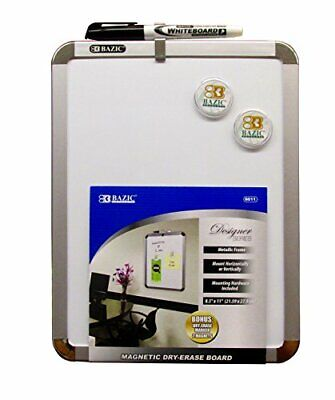 Bazic 8.5 X 11 Magnetic Dry-erase Board - Includes Dry Erase Marker 2 Magnet