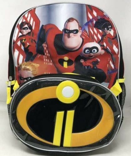 Disney Pixar The Incredibles 2 Boys School Backpack Book Bag