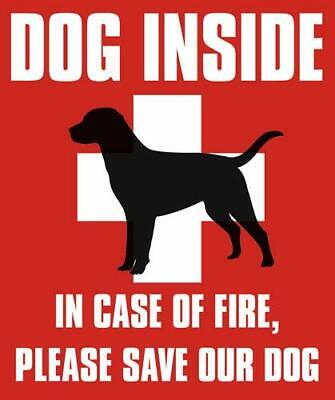 4x4 inch Dog Inside in Case of Fire Please Save Our Dog Sticker -pet fire Safety