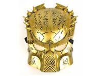 Alien Vs Predato Predator Warrior Costume Halloween Mask Adult's Day Mask Gold