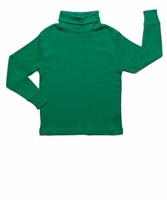 (Leveret Boys Girls Green Solid Turtleneck 100% Cotton (2 Toddler -14 Years))