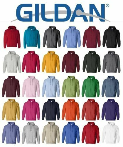 Gildan Heavy Blend Pullover Hoodie Basic Fleece Hooded Sweat