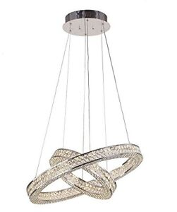 Rings Chrome Crystals Chandelier Pendant lampe Luminaire