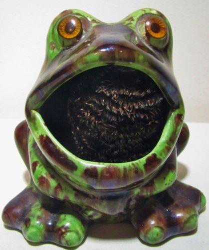 Frog sponge holder ebay - Frog sponge holder kitchen sink ...