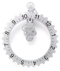 Kikkerland Big Wheel Revolving Wall Clock, New, Free Shipping
