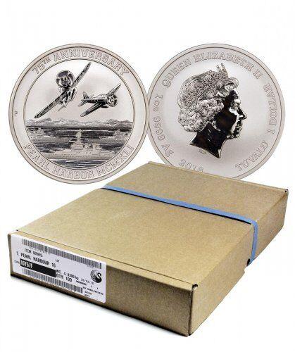 2016-P $1 Pearl Harbor 75th Anniversary Perth Mint 1 oz. .9999 Silver Coin W/COA