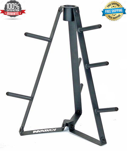 Marcy Plate Tree for Standard Size Weight Plates/Storage Rack for Exercise PT-36