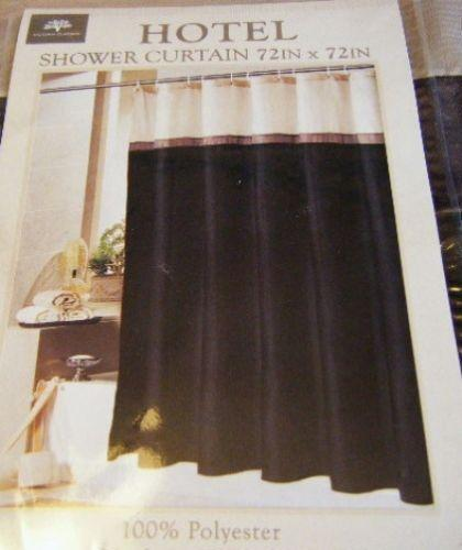 Black Brown Shower Curtain EBay