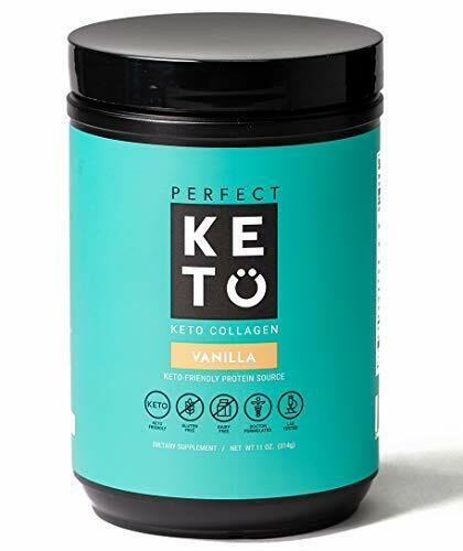 Perfect Keto Collagen Powder with MCT Oil - Grassfed, GF, Mu