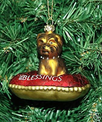 Dog, Canine Glass Christmas Ornament