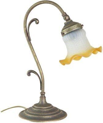Lampe Nachttisch Licht Glas Weiß Amber Basis Liberty - Nacht Licht Tisch Lampe Basis