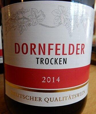 12 Flaschen Dornfelder Rotwein 1,0 Ltr. trocken, mild säurearm, Premiumversand