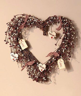 Country Hearts Wreath, New, Free Shipping
