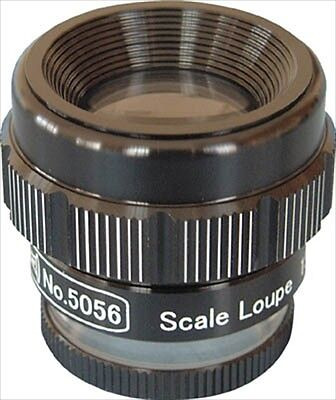 15 times Scale Loupe with graduations, 5056, LEAF, Made in JAPAN