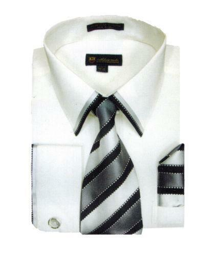 White french cuff dress shirts ebay for White french cuff shirt