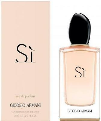 Armani SI By Giorgio Armani Women 3.4 OZ 100 ML Eau De Parfum Spray Nib Sealed