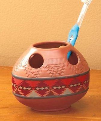 Rustic Santa Fe Bathroom Collection Southwestern Toothbrush Holder Southwestern Rustic Santa