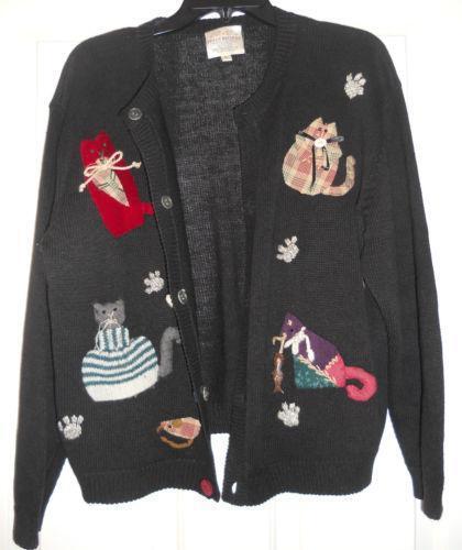 Susan Bristol Cat Sweater Ebay