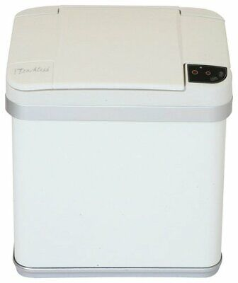 iTouchless - 2.5-Gal. Sensor Trash Can - Pearl White