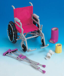 "NEW:Newberry Wheelchair & Crutch Set for 18""doll"