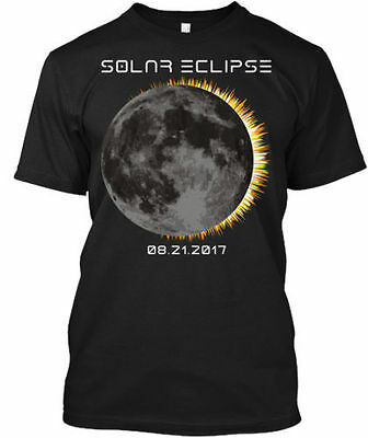 2017 Total Solar Eclipse Moon  Tee T Shirt