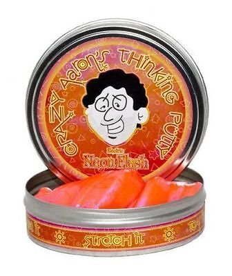 NEON FLASH Electric Orange/Pink Crazy Aaron's Thinking PUTTY Fidget Desk Toy Tin