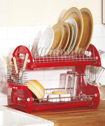 metal dish rack ebay. Black Bedroom Furniture Sets. Home Design Ideas