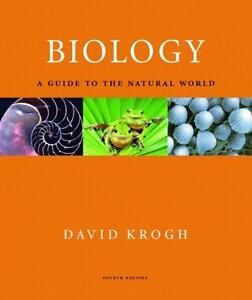Biology: A Guide to the Natural World. Krogh. Nursing textbook.